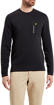 Lyle & Scott Zip Pocket Sweatshirt, True Black