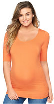 A Pea in the Pod Maternity Elbow-Sleeve Ruched Top