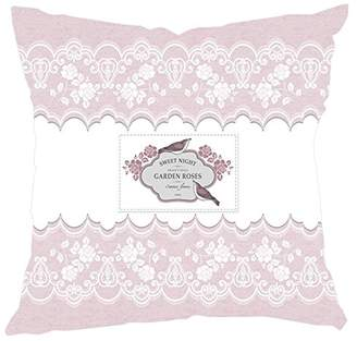Soleil d'ocre GARDEN removable cotton cushion cover 40 x 40 cm, pink