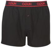 Hugo HUGO WOVEN SHORT EDGE men's Boxer shorts in Black