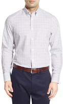 Nordstrom Classic Fit Smartcare TM Windowpane Sport Shirt (Big)