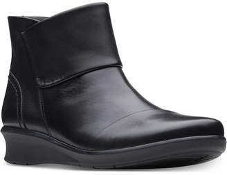 Clarks Collection Women Hope Track Leather Booties Women Shoes