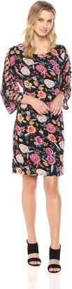MSK Women's Ladder Sleeve Blouson Shift Dress