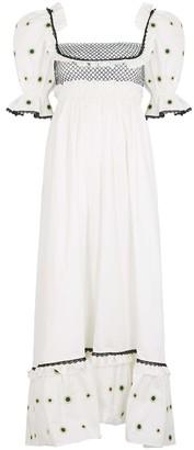 Lug Von Siga Gaia floral-embroidered cotton maxi dress