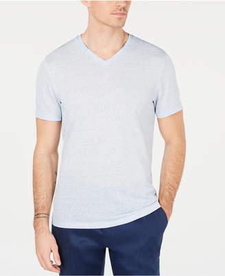 Alfani Men Linen Blend V-Neck T-Shirt