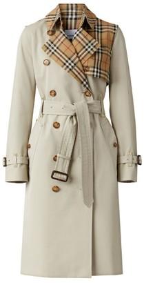 Burberry Vintage Check Gabardine Trench Coat