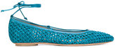 Casadei woven pointed ballerina pumps - women - Leather/Polyamide/Kid Leather - 36.5