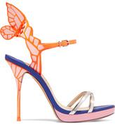 Sophia Webster Chiara Metallic Patent-leather Platform Sandals - Pink