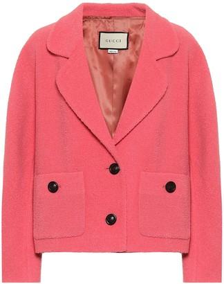 Gucci Tweed wool-blend jacket