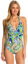 Trina Turk Swimwear Nomad Paisley Plunge Neck One Piece Swimsuit 8142874