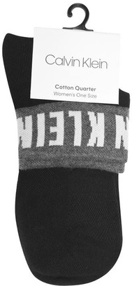 Calvin Klein Mod Cotton Quarter Socks