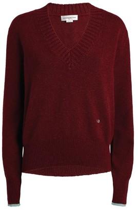 Victoria Beckham Cashmere-Rich V-Neck Sweater
