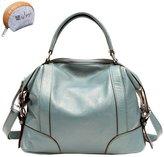Myleas Women's Genuine Leather Handbag Hobo Tote Shoulder Bag Satchel