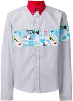 Prada striped appliqué shirt