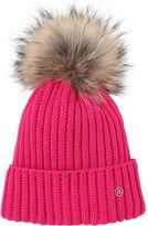 Bogner Leonie Wool Blend Beanie Hat W/ Fur