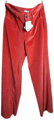 Brunello Cucinelli Orange Velvet Trousers
