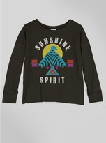Junk Food Clothing Kids Girls Sunshine Spirit Long Sleeve-jtblk-s