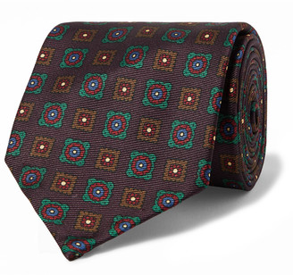 Rubinacci Printed Silk-Twill Tie