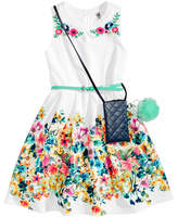 Beautees 2-Pc. Dress & Purse Set, Big Girls