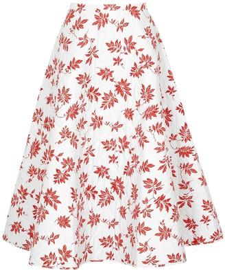 Lee Mathews Lulu floral-print quilted cotton midi skirt