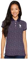 U.S. Polo Assn. Floral Print Stretch Pique Polo Shirt