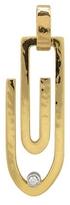 Torrini Clips - 18K Yellow Gold Pendant with Diamond