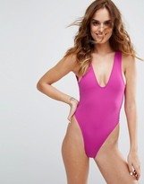 Minimale Animale Pink High Leg Swimsuit
