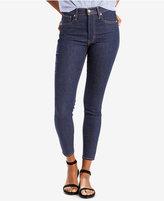 Levi's Mile High Cropped Dark Blue Wash Skinny Jeans