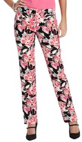 LOFT Marisa Tossed Bouquet Print Skinny Pants in Doubleweave Cotton