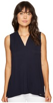 Calvin Klein Sleeveless Solid V-Neck Top Women's Clothing