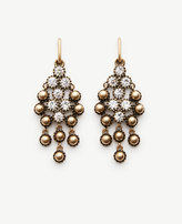 Ann Taylor Round Stone Chandelier Earrings