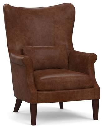 Pottery Barn Champlain Wingback Leather Armchair