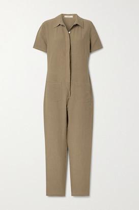 MATIN Linen Jumpsuit - Light brown