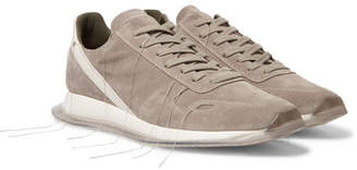 Rick Owens New Vintage Runner Leather-Trimmed Suede Sneakers