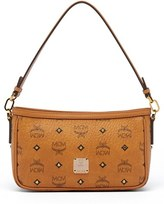 MCM 'Small Visetos' Convertible Coated Canvas Shoulder Bag - Brown
