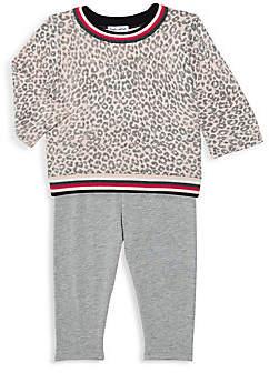 Splendid Baby Girl's 2-Piece Leopard-Print Sweater & Leggings Set