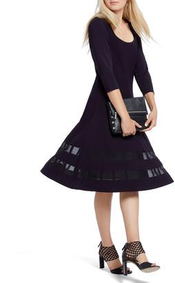 Nic+Zoe Charming Twirl 3/4-Sleeve Ponte Dress