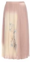 Valentino Pleated printed silk skirt
