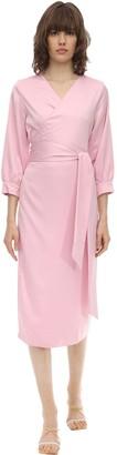 Aeryne Cowry Satin Wrap Dress