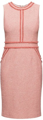 Rumour London Eloise Soft Pink Cotton Tweed Dress with Fringed Detail