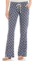 Roxy Oceanside Pleated Printed Woven Linen-Blend Pants