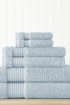 Amrapur 6-Piece Turkish Cotton Towel Set - Light Blue