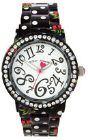 Betsey Johnson Dots And Roses Watch