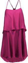 Haute Hippie Tiered silk mini dress