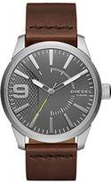 Diesel Men's DZ1802 Rasp Stainless Steel Brown Leather Watch