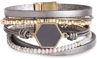 Saachi Hexa Resin Beaded Bracelet
