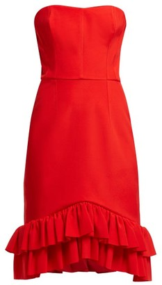 Emilio De La Morena Coretta Ruffled Cocktail Dress - Red