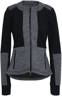Erin Snow Aria Two-tone Merino Wool-blend Jacket