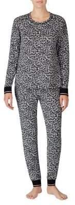 Kensie 2-Piece Pattern Top & Pants Pajama Set