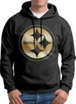 Sarah Men's Pittsburgh Steelers Gold Logo Hoodie M